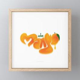 I Love Mango Framed Mini Art Print