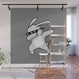 Dabbing Easter Bunny Wall Mural