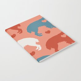 Valentine's dog surface pattern Notebook