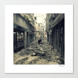 Istanbul Street Rubble Canvas Print