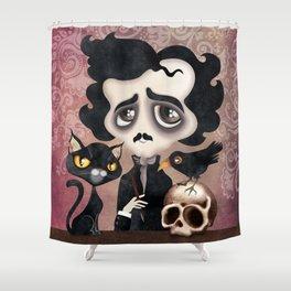 Edgar Poet Shower Curtain