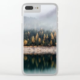 Misty Autumn Forest Clear iPhone Case
