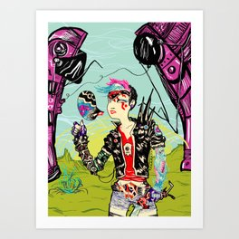 Cyber Punk Girl Art Print