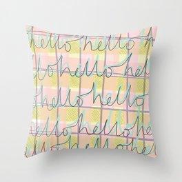 Hello Hello Throw Pillow