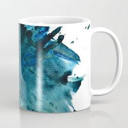 Scenic Route [2]: a pretty, minimal abstract piece in blue and green by Alyssa Hamilton Art Coffee Mug