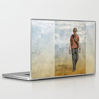 charlie brown Laptop & iPad Skins featuring Charlie by Jackie Sullivan