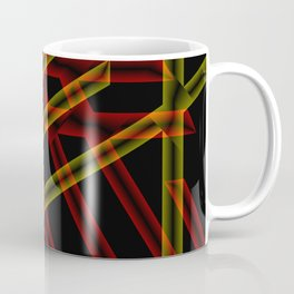 colored stripes on black background Coffee Mug