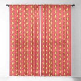 Cartoon Lightning Bolt pattern Sheer Curtain