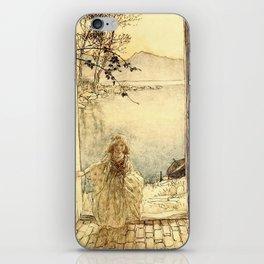 Arthur Rackham - Fouqué - Undine (1909) - A beautiful little girl clad in rich garments iPhone Skin