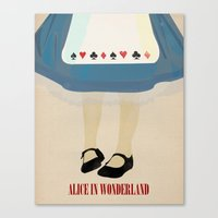 alice wonderland Canvas Prints featuring Alice In Wonderland by magicblood