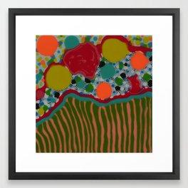 Untitled, stripes/dots Framed Art Print