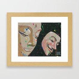 Buddha Fawkes Framed Art Print