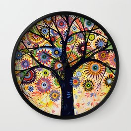 Abstract Art Landscape Original Painting .... Life Giver Wall Clock