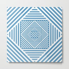 Blue & White Secret Passage Metal Print