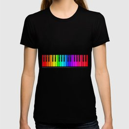 Rainbow Piano Keyboard  T-shirt