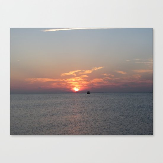Meet Me At The Beach Canvas Print