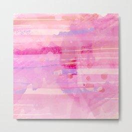 Santa Fe Air Abstract in Pink, Lilac Metal Print