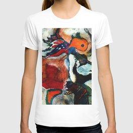 Orange Abstract Art / Surrealist Painting T-shirt
