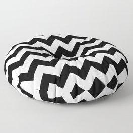 Chevron (Black/White) Floor Pillow