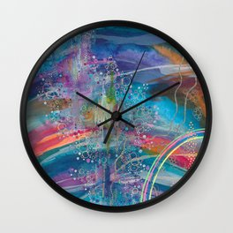 dreaming in color Wall Clock