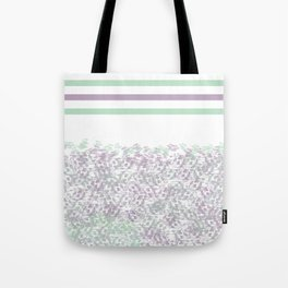 Mint & Purple Abstract Design Tote Bag