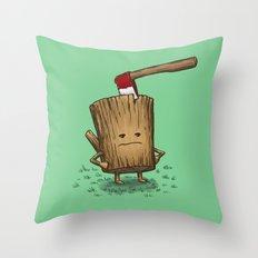 Bad Day Log 3: Splitting Headache Throw Pillow