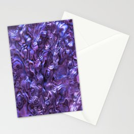 Abalone Shell | Paua Shell | Sea Shells | Patterns in Nature | Violet Tint | Stationery Cards