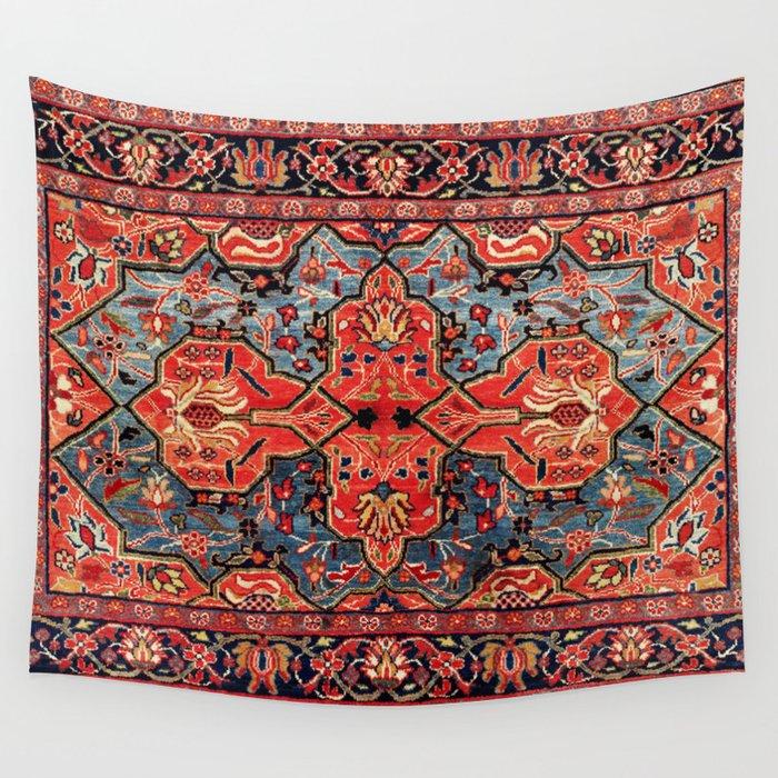 Kashan Poshti Central Persian Rug Print Wall Tapestry
