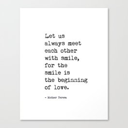 Mother Teresa quote Canvas Print