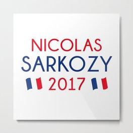 Nicolas Sarkozy 2017 Metal Print
