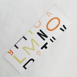 Eclectic Alphabet Yoga Mat
