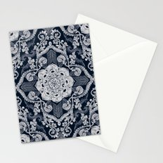 Centered Lace - Dark Stationery Cards