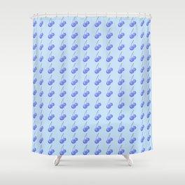 Blue Cherries Shower Curtain