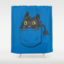 Pocket Toothless Shower Curtain
