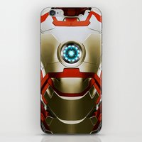 iron man iPhone & iPod Skins featuring IRON MAN Iron Man by Veylow