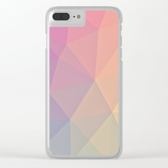 Abstract Polygons Clear iPhone Case