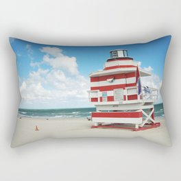 Baywatch House (Miami Beach, Florida) Rectangular Pillow
