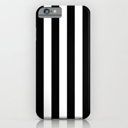 Abstract Black and White Vertical Stripe Lines 6 iPhone Case