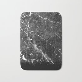 Black Gray Marble #1 #decor #art #society6 Bath Mat
