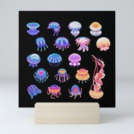 Jellyfish Day - dark Mini Art Print