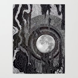Moon Glow Poster