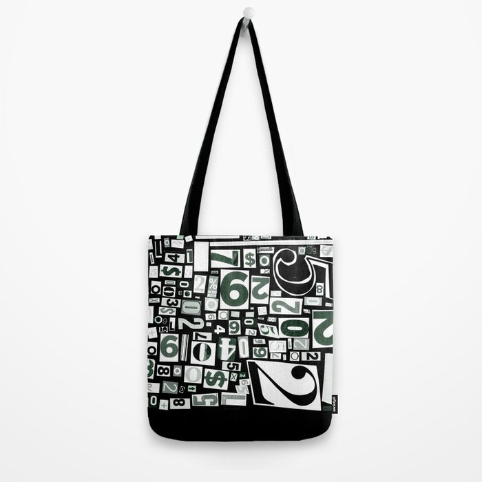 Numbers by Friztin Tote Bag