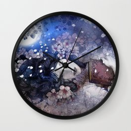 Amidst the blossoms Wall Clock