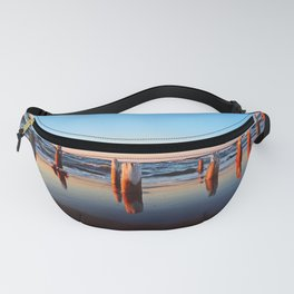 Reflected Remains on the Beach Fanny Pack