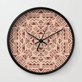 Boho graphics Moroccan oriental modern pattern art drawing - 7 Wall Clock