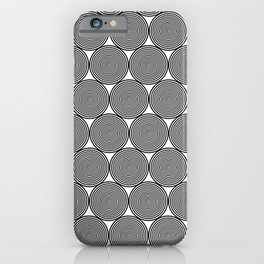 Hypnotic Black and White Circle Pattern - Digital Illustration - Graphic Design iPhone Case