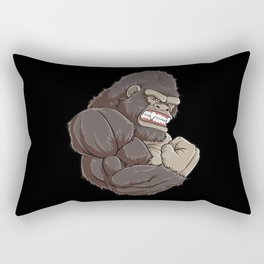Gorilla At The Gym   Fitness Training Muscles Rectangular Pillow