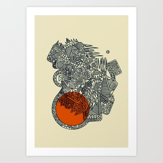 Glysko Sunset Art Print