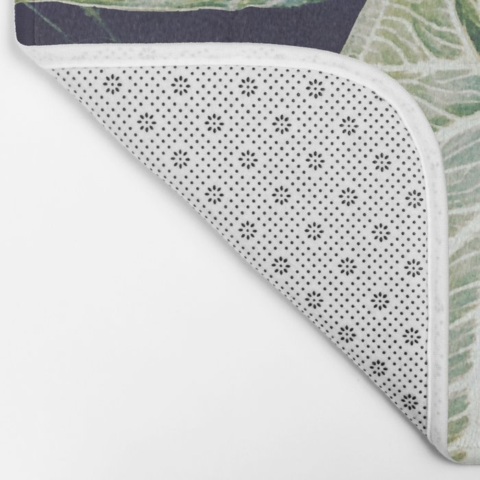 Jungle leaf - vintage Bath Mat