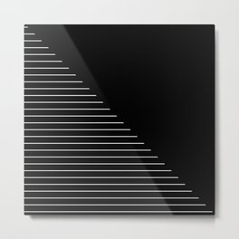 Descent (Abstract, black and white minimalism) Metal Print